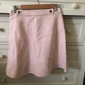 Kate Spade Pink Tweed A-Line Skirt